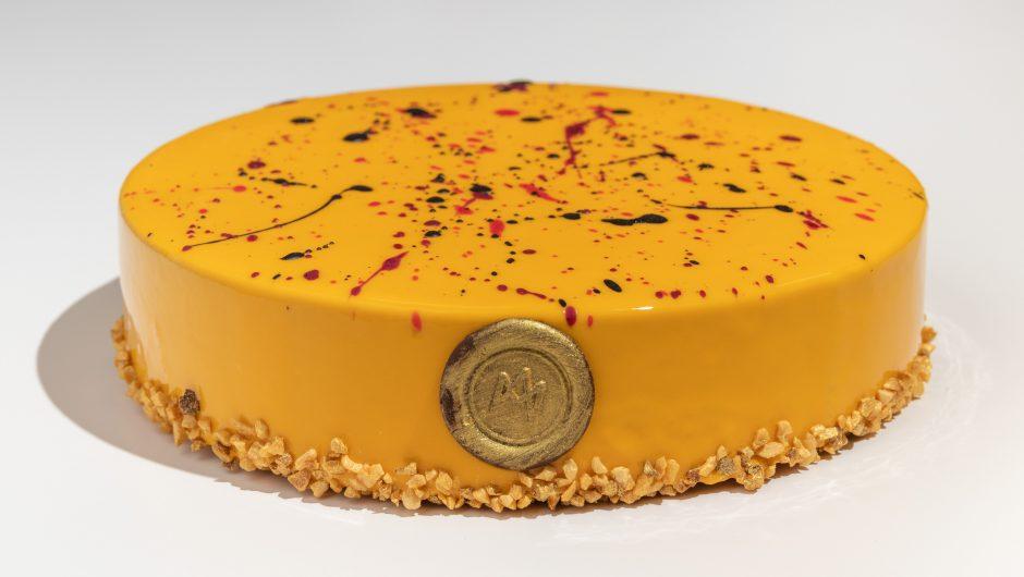 עוגת מוס פרלינה מנגו